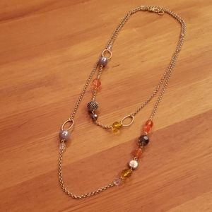 Extra Long Gold with Beads Layering Necklace